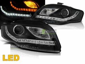 Fari anteriori Daylight per AUDI A4 B7 dal 2004-2008 Neri Frecce Dinamiche LED I