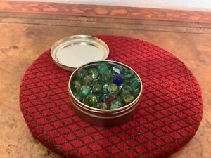 Collection vintage glass marbles