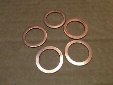 """Qty 5 x COPPER WASHERS OD 1.1/4"""" (31.8 mm) ID 15/16"""" ( 24 mm) Thickness 1.5 mm."""
