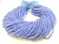 """5 Strand Tanzanite Chalcedony Rondelle Faceted Gemstone Beads 13""""Inch,4-4.5mm"""