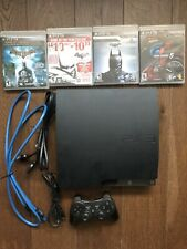 Sony Playstation 3 Slim Console 120Gb Ps3 With Cables, Controller & 4 Games