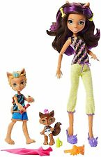 Monster High Monster Family Siblings CLAWDEEN WOLF BARKER WOLF & WEREDITH Dolls