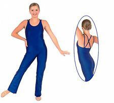 NWT Pumpers Blue Strappy Long Leg Unitard Costume     Adult S