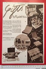Elizabeth Arden Gifts advert 1930's: b&w photos ORIGINAL 1934 advertisement