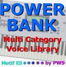 """POWER BANK""    Voice Library for Yamaha Motif XS6 XS7 XS8 S90XS S70XS XS Rack"