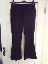 Next Ladies Wool Plus Lycra Black Smart Trousers Size 12