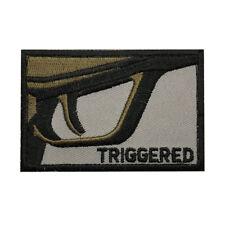 Triggered Gun Embroidered Morale Hook Fastener PATCH (3.0 X 2.0)