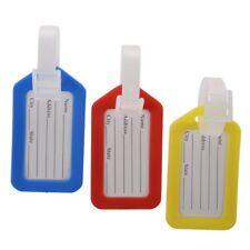 3 x Etiquette de bagage en plastique dur pour ecrire l'adresse et les infor E1N2