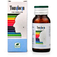 Homeopathic New Life Tonsilocin Tablets  25 gm Free Shipping
