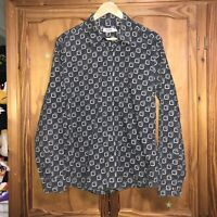 Super Cool Vintage Moschino Allover Print Shirt Size Large Rare Collectors