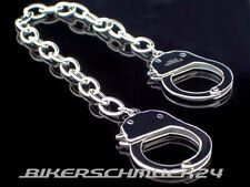 Handschellen Armband mit Mechanik Handcuffs Edelstahl silber Herren Geschenk NEU