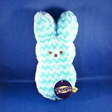 Peeps - Bunny - Blue Chevron -  9 Inch Plush - Easter - NEW