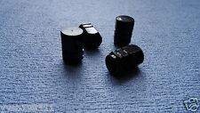 ALFA ROMEO BLACK FULL METAL DUST VALVE CAPS TYRE WHEEL SOLID HEXAGON COVER