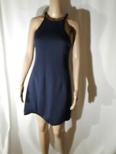 3.1 Phillip Lim Quilted Scuba Dress In Navy Blue Size 4