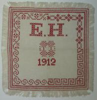 ANTIKES STICKMUSTERTUCH EH 1912 Berlin Kreuzstich ca. 32 x 32 cm