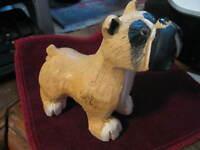 """Uruguay ARTESANIA RINCONADA Classic 1980-95 BOXER Dog aR #110 3 3/4"""" tall LQQK"""