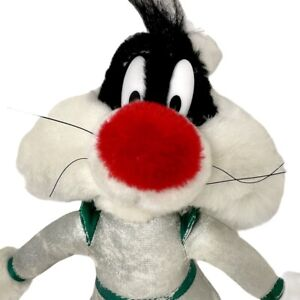 Sylvester Space Cat Plush Play By Play Vintage 1998 Looney Tunes Stuffed Toy