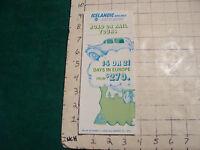 Vintage High Grade AIRLINE brochure: ICELANDIC airlines LOFTLEIDIR road rail '70