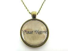 Nome personalizzato Alice nel Paese delle Meraviglie Stile Bronzo Placcato Collana in vetro-NUOVO