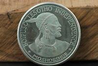 Lesotho 50 Licente 1966 Moshoeshoe Silber 900 Münze im Blister Unabhängigkeit #9