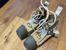 Desco U.S. Navy Light Weight Diving Shoes w/ White Canvas Uppers Heavy Gear