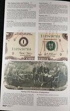 Uncut sheet of (4) UnCirculated 1995 $2 Bills in U.S. BEP Folder.