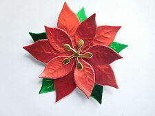 EMBOSSED GLOSSY POINSETTIA DIE CUTS CHRISTMAS CARDMAKING