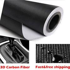 2Mx 600MM 3D Carbon Fiber Fibre Vinyl Wrap Film Sheet Decal Sticker Laptop Car