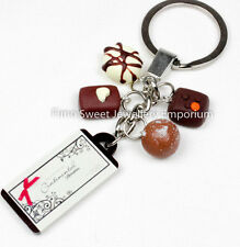 Handmade fimo chocolate fun novelty  key ring makes ideal gift xmas / birthdays