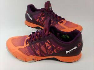 Reebok CrossFit Speed TR Women's Athletic Shoes Sz 9 UK 6.5 V68473 Purple Orange