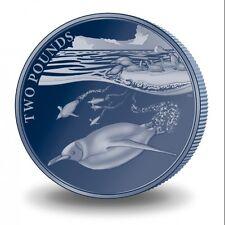 2016 British Antarctic Territory Emperor Penguin Titanium $5 Coin w/box & COA