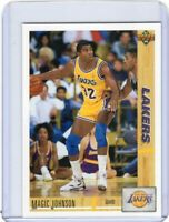 1991-92 UPPER DECK BASKETBALL CARD # 45 -  MAGIC JOHNSON - LOS ANGELES LAKERS