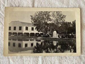 Sulphur, OK RPPC Postcard Auto Dance Horses Springs Barn Dance Oklahoma Townsley