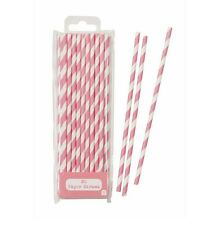 30 Pretty pink paper straws retro shabby chic, birthday party baby shower hen do