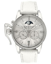 Graham Chronofighter 1695 Diamond Lady Moon Quartz Ladies Watch 2CXCS.S06A