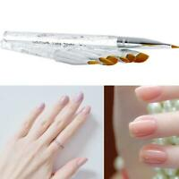 7 Pcs Nail Art Brushes UV Gel Crystal Acrylic Painting Pencil Builder Set P F3Z5