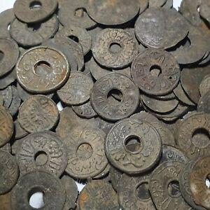 Lot 100 Pcs Palembang Sultanate Indonesia Tin Pitis Mixed ca 1700's