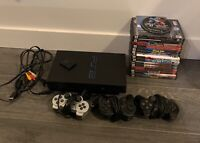 Sony PlayStation 2 PS2 Fat Console System Complete Bundle 3 Controllers 20 Games