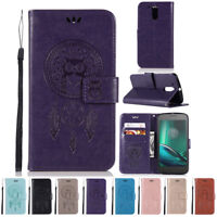 Luxury PU Leather Flip Card Wallet Cover Stand Case For Motorola Moto G4 Play