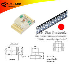 0805 Pure Red SMD SMT LED Chip 17-21SURC//S530-A3//TR8 Bright Light 1mm Height