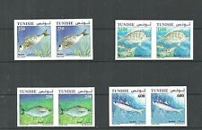 2012- Tunisia – Fishes of Tunisia- Imperforated paire /Complete set