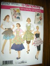 Vintage Ruffle Apron New Simplicity 2592 Pattern Sizes 10-20