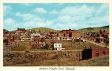 CRIPPLE CREEK CO 1956 Panoramic View of Historic Town VINTAGE COLORADO GEM++ 571