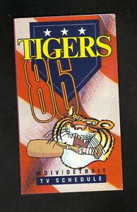Detroit Tigers--1986 Pocket Schedule--WDIV