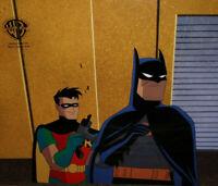 Batman The Animated Series Batman and Robin-Make Um Laugh- Original Prod Cel