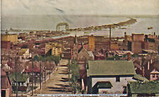 c1912 Duluth MN and Minnesota Point Bird's Eye View Tinted Postcard