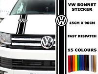 VW Camper Bonnet Stickers Transporter T4 T5 Graphics Caravelle Van Stripes 1503
