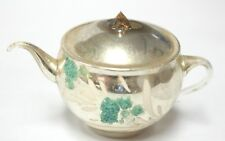 Silver Tea Pot Glass Antique Hand Blown Christmas Tree Decoration Ornament