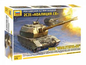 Zvezda 5055 Russian 152-mm Self-Propelled Howitzer 2S35 KOALITSIYA-SV 1/72