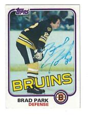 Brad Park AUTOGRAPH 1981-82 TOPPS HOCKEY CARD SIGNED BOSTON BRUINS